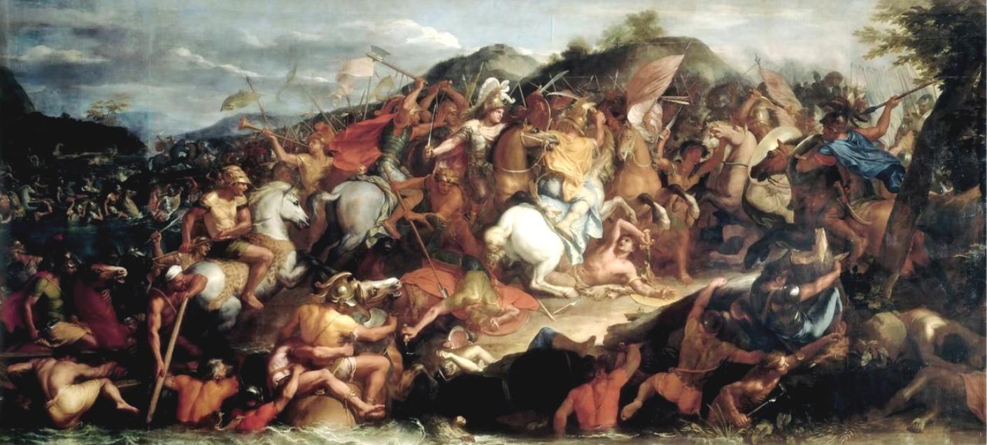 «Η μάχη του Γρανικού ποταμού». Δημιουργία του Καρόλου Λε Βρον
