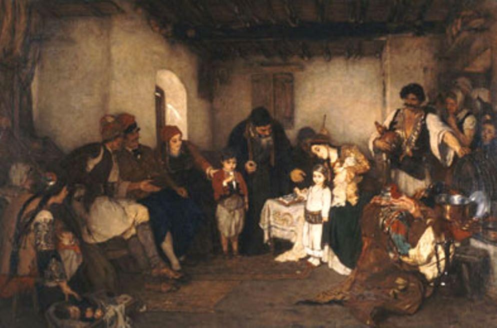 Παιδικοὶ ἀρραβῶνες Νικόλαος Γύζης 1877