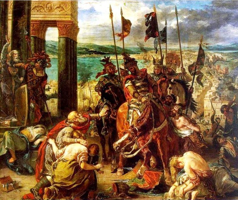 Eugène Delacroix La prise de Constantinople par les Croisés