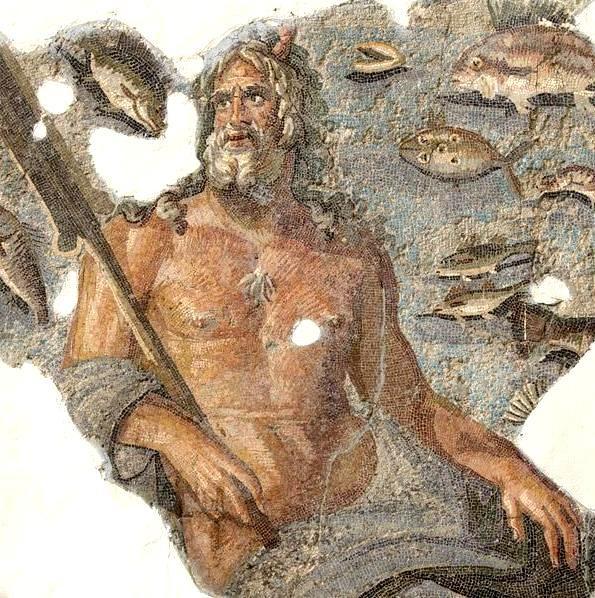 «Ωκεανός».Μωσαϊκό δαπέδου που βρέθηκε σε ανασκαφές στην Ταρσό της Κιλικίας. 2ος αι.μ.Χ. Έκθεμα Μουσείου Χατάι στην υπό κατοχή Αντιόχεια