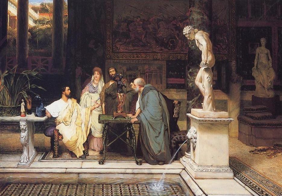 «Ἕνας Ῥωμαῖος λάτρης τῆς τέχνης». Δημιουργία τοῦ Σὲρ Λῶρενς Ἄλμα-Ταντέμα (A Roman Art Lover - Sir Lawrence Alma-Tadema).