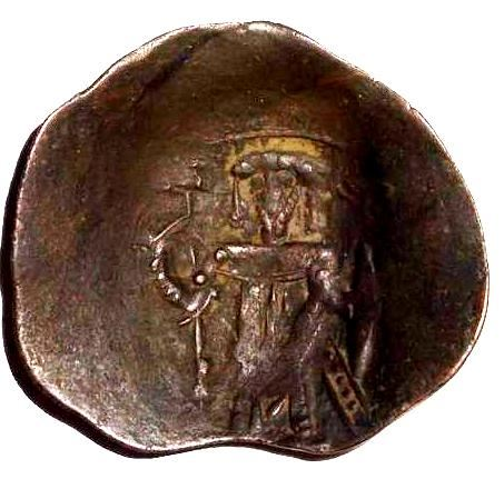 a billon Trachy from the KINGDOM OF THESSALONICA 1200-1224 AD