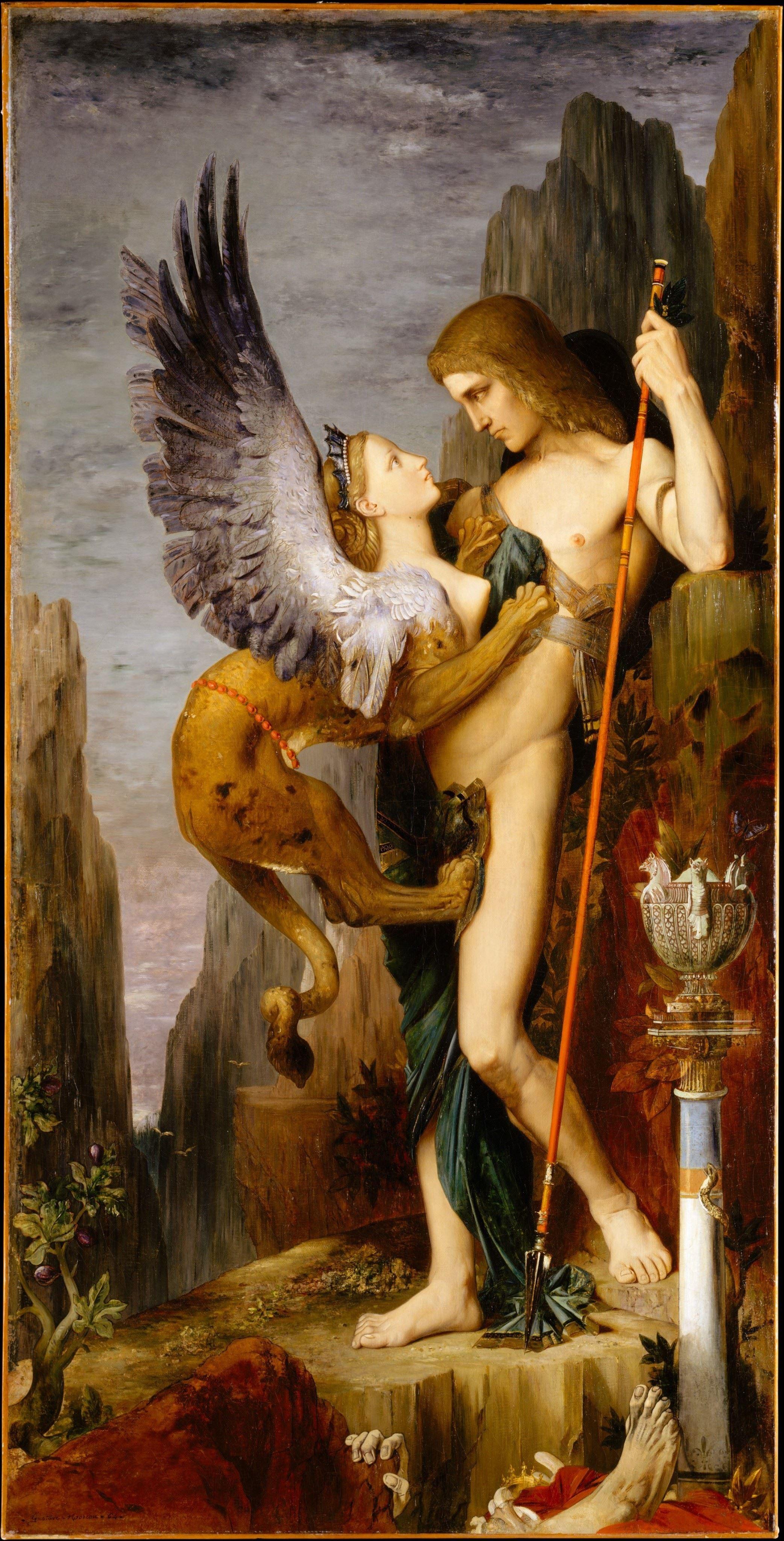 «Ο Οιδίποδας και η Σφίγγα» έργο τού Γκυστάβ Μορώ.