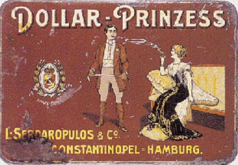Τσίγκινο λιθογραφημένο κουτί της εταιρείας Σερδαλόπουλος και Σια Κωνσταντινούπολη-Αμβούργο που βρέθηκε σε παλαιοπωλείο στο Λονδίνο.