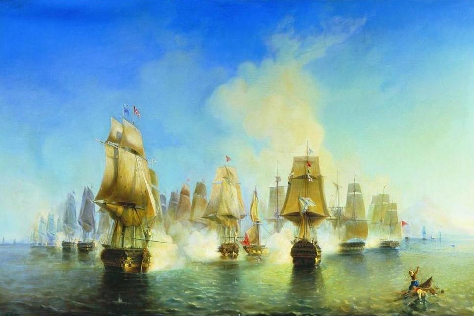Η ναυμαχία στο Άθος - Αλεξέι Μπογκολιούμποβ (The Battle of Athos - Alexey Bogolyubov)
