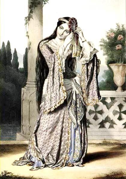 Η πριγκίπισσα Ελένη Σούτσου. Έργο τού Λουί Ντιπρέ (Louis Dupre)