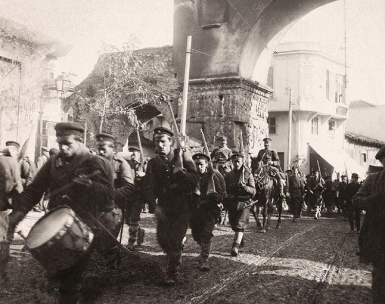 Τμήμα βουργαρικού στρατού που επέτρεψαν οι Έλληνες να εισέλθει στην Θεσσαλονίκη μετά την απελευθέρωσή της.