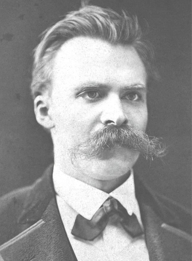 Friedrich Nietzsche   Photography by F. Hartmann in Basel