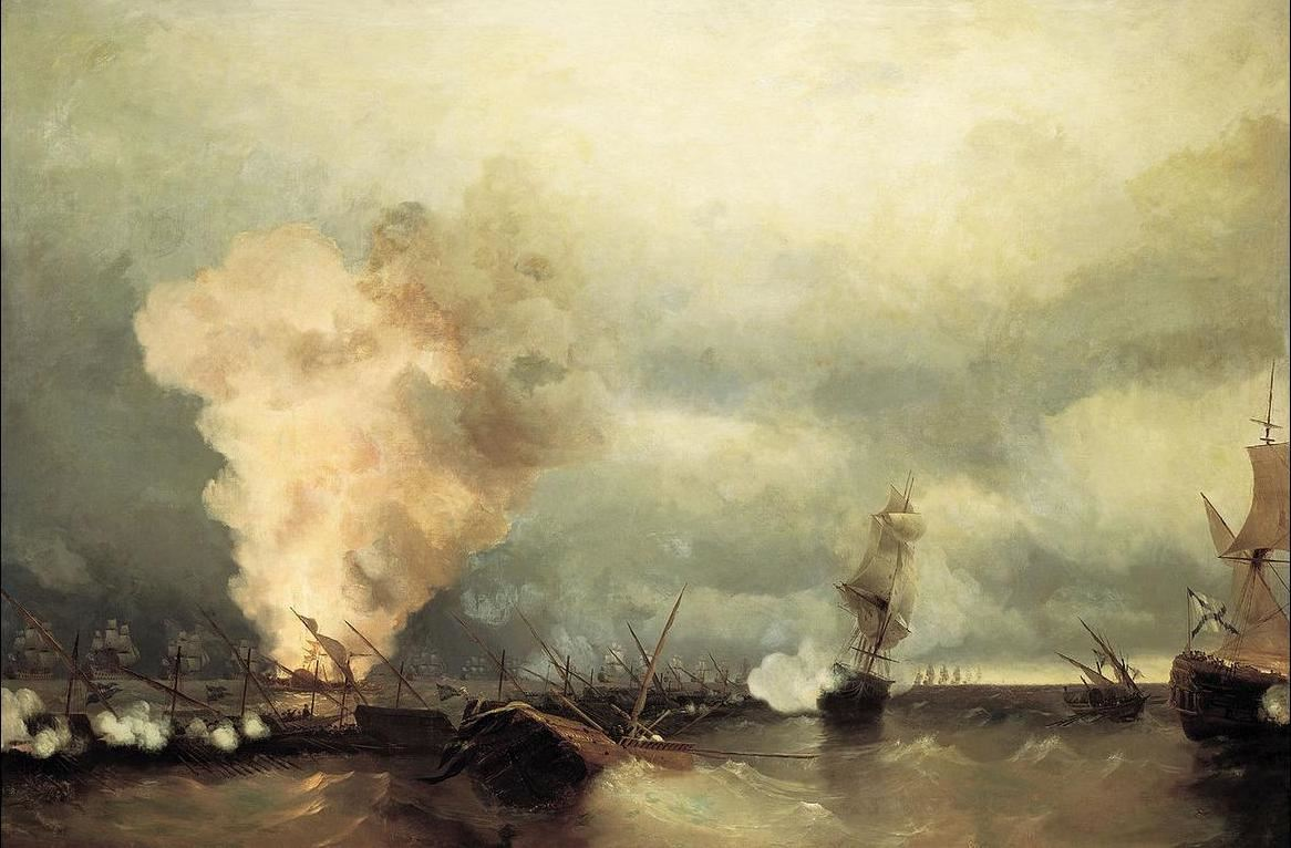 Ivan Aivazovsky Battle of Viborg Bay Part of Russo-Swedish War 1788-1790