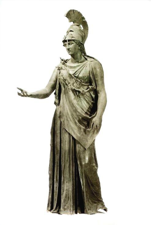 Χάλκινο άγαλμα Αθηνάς – Υψ. 2.35μ. τέλος 4ου αι. π. Χ