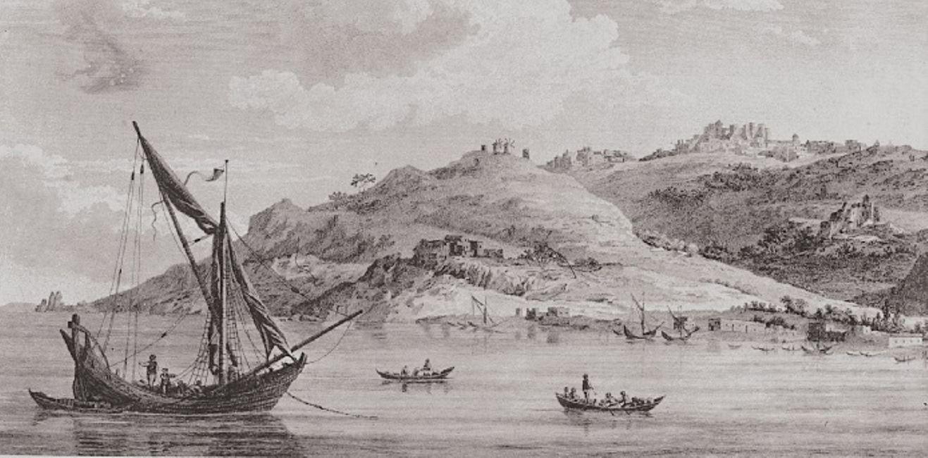 Η Πάτμος το 1782 σε λιθογραφία
