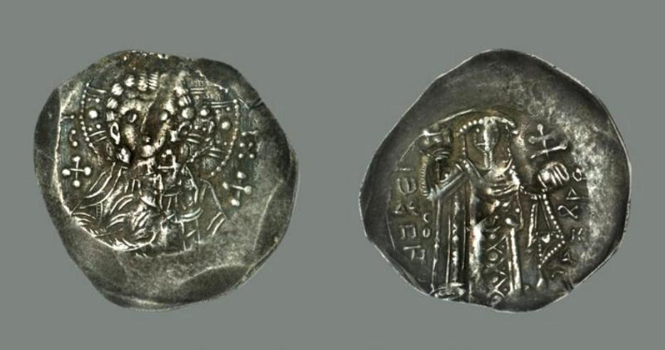 Ἄσπρον. Νόμισμα τοῦ Ἰωάννου Γ΄ Βατάτζη. 1221-1254