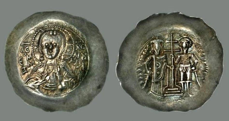 Ἄσπρον. Νόμισμα Θεοδώρου Α΄ Λασκάρεως. 1204-1221
