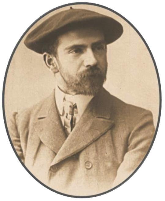 Ο Πίο Μπαρόχα υ Νέσσι (Pio Baroja y Nessi) σε εξώφυλλο τού περιοδικού Μούντο Γκράφικο (Mundo Grafico), τής 20ης Νοεμβρίου 1912. Επεξεργασία εικόνας: Ἑλληνικό Ἡμερολόγιο