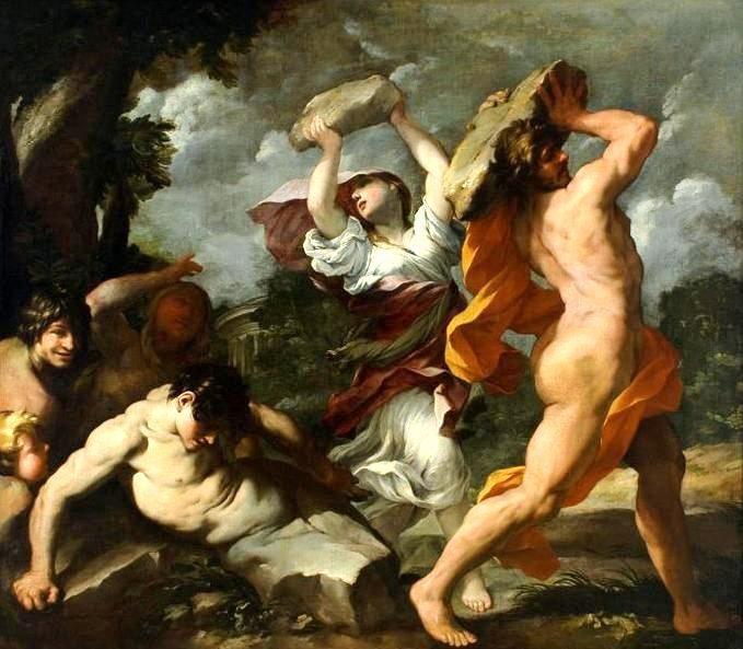 Δημιουργία τού Τζιοβάνι Μαρία Μποτάλλα, με θέμα τον κατακλυσμό τού Δευκαλίωνος. (Giovanni Maria Bottalla   Deucalion and Pyrrha).