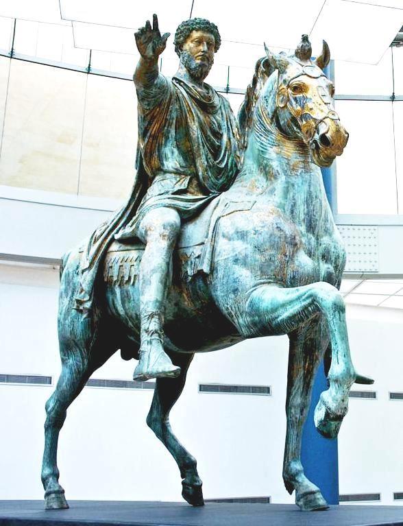 Το άγαλμα τού Μάρκου Αυρηλίου στο Μουσείο Καπιτολίνι στην Ρώμη (Marco Aurelio L'originale della scultura, esposta nei Musei Capitolini dopo l'ultimo restauro.)