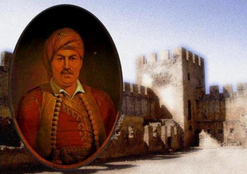 Σύνθεση προσωπογραφίας τού οπλαρχηγού Νταλιάνη και τού Φραγκοκάστελου.