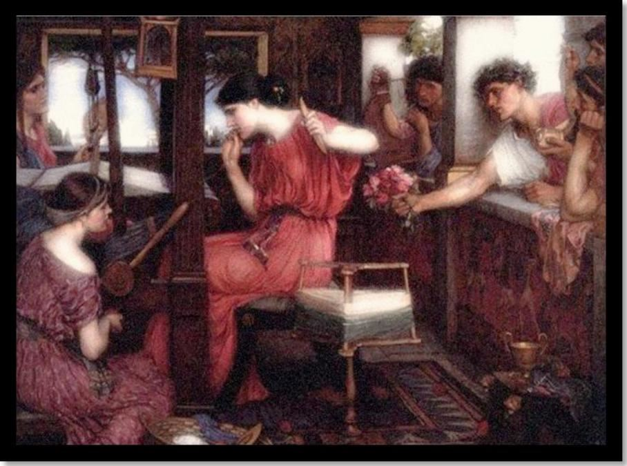 Τζων Γουίλλιαμ Γουότερχάζουζ « η Πηνελόπη και οι Μνηστήρες - 1912 (John William Waterhouse Penelope and the Suitors - 1912)