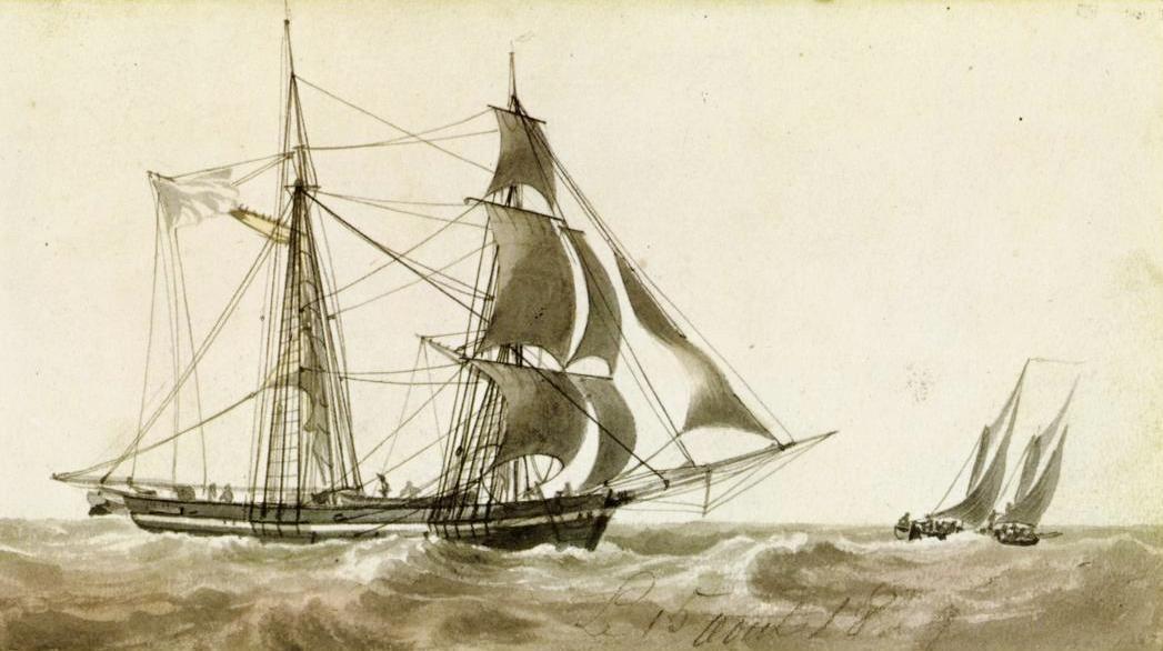 Brig-schooner of 1829