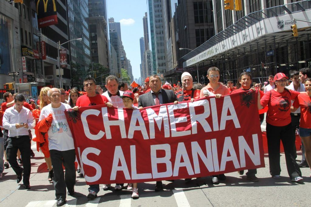 Chams marching in New York City in the 2012 Albanian Roots Parade