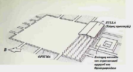 Σχεδιάγραμμα του ισλαμικού τεμένους της πόλεως Κούφα του σημερινού Ιράκ. Χτίστηκε το 639 μ.Χ.